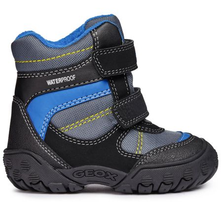 Geox chlapecké zimní boty Gulp 20 černá modrá  1d4f73597b