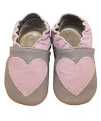 baBice dekliški copati s srcem