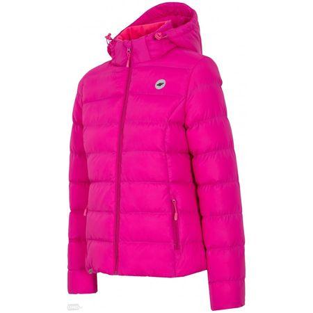 4F ženska zimska jakna T4Z16-KUD003, vijolična, S