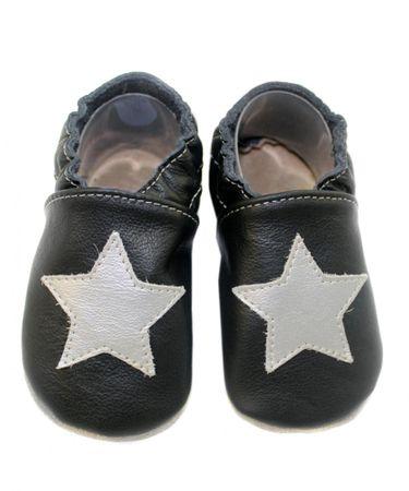 baBice chlapecké capáčky s hvězdou 24,5 černá