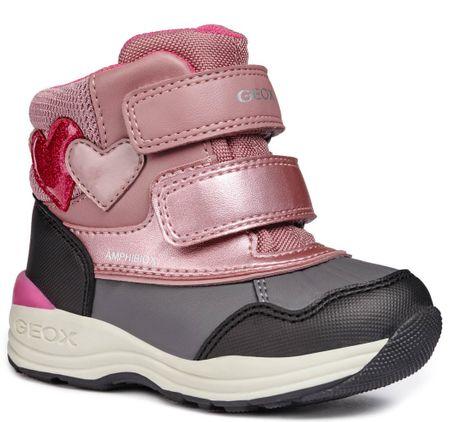 6a2e52e1a9d Geox dívčí zimní boty New Gulp 23 růžová šedá