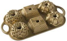 NordicWare Mini Bábovky plát so 6 formičkami zlatá
