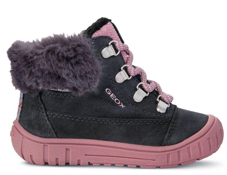 63a93d9741b Geox dívčí zimní boty Omar 26 tmavě šedá