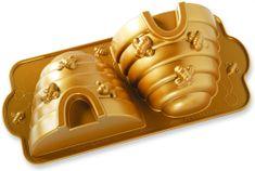 NordicWare Forma na bábovku včelí úľ 3D, zlatá
