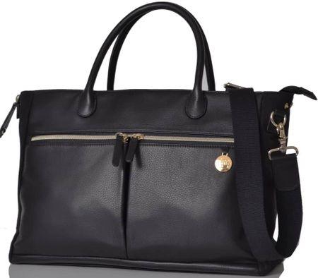 PacaPod FORTUNA kožna torba za previjanje i torbica, crna