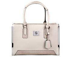 Guess Dámská kabelka G by GUESS Women`s Windfall Faux-Leather Satchel - Stone Multi