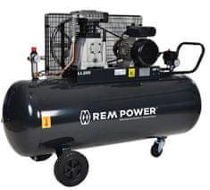 REM POWER batni kompresor E 500/10/200 in 5-delni pnevmatski set