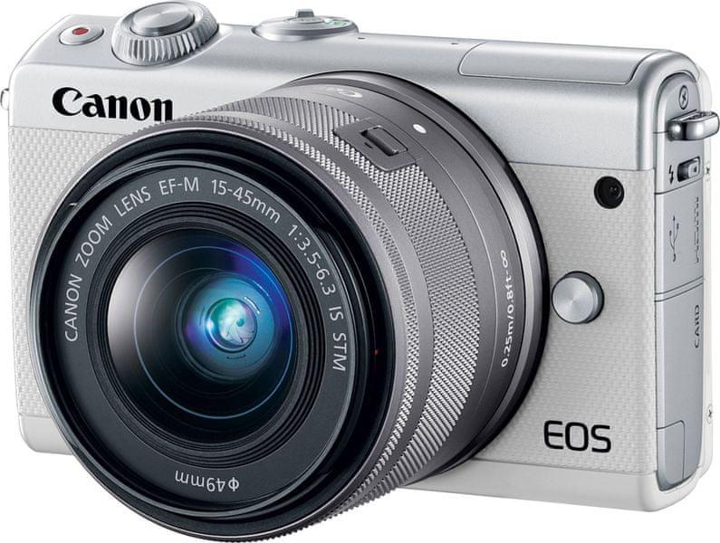 Canon EOS M100 + 15-45 IS STM White + 50 GB IRISTA (2210C093) + 500 Kč na fotoslužby