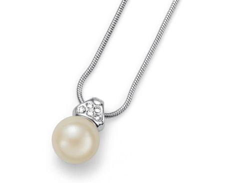 Oliver Weber Náhrdelník s perlou Swarovski Lucent 11618 CRE
