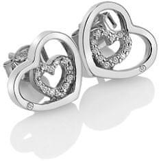 Hot Diamonds Srebrne kolczyki serce Urocza Encased DE548 srebro 925/1000