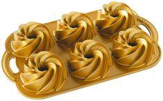 Nordic Ware Minibábovky Heritage plát se 6 formičkami, zlatá