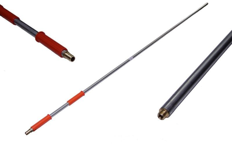 VENTO Náhradní násada / tyč, se závitem, 180 cm, z oceli