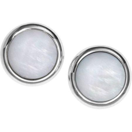 Oceľové náušnice s perleťou JF00705040