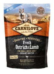 Carnilove Dog Fresh Ostrich & Lamb for small breed 1,5kg