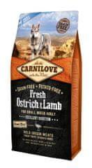Carnilove sucha karma dla psów Dog Fresh Ostrich & Lamb for small breed 6kg