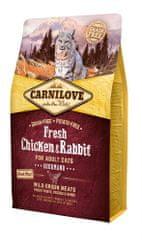 Carnilove sucha karma dla kotów Chicken & Rabbit Gourmand for Adult 2kg