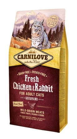 Carnilove sucha karma dla kotów Chicken & Rabbit Gourmand for Adult 6kg