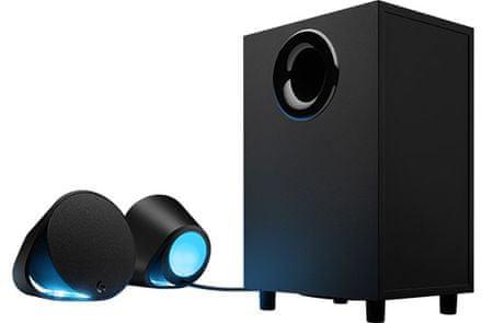 Logitech zvočniki G560, 2.1, Bluetooth, RGB, 120 W RMS, črni