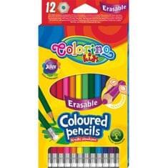 Pastelky šestihranné Colorino s pryží 12 barev