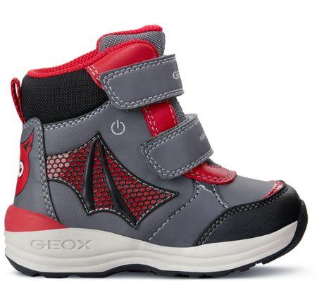 Geox chlapčenské zimné topánky New Gulp 20 sivá červená  6f2cafa99af