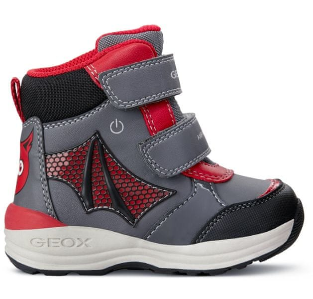e2be9fc3741 Geox chlapecké zimní boty New Gulp 20 šedá červená