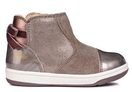 Geox dívčí kotníčkové boty New Flick 24 hnědá šedá  010d3c69d5