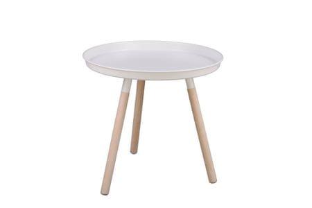 Mørtens Furniture Konferenční stolek Stave, 50,5 cm, bílá