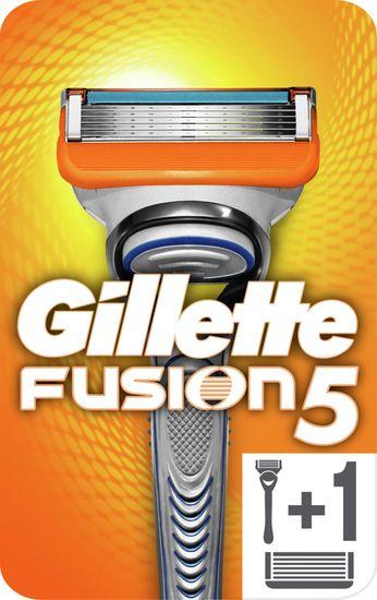 Gillette ročni brivnik Fusion + 2 rezilni glavi