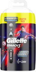 Gillette Mach3 Football holicí strojek pro muže + 4 holicí hlavice