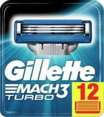 Gillette brivne glave za britvico Mach3 Turbo, 12 kosov