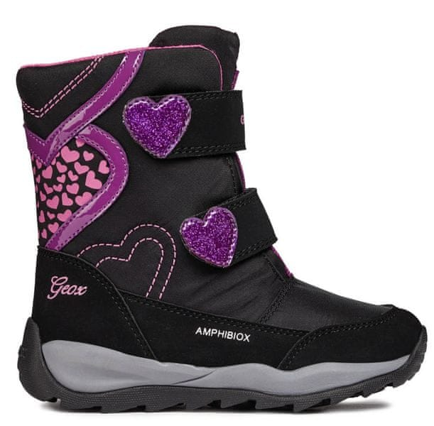 Geox dívčí zimní boty Orizont 32 černá