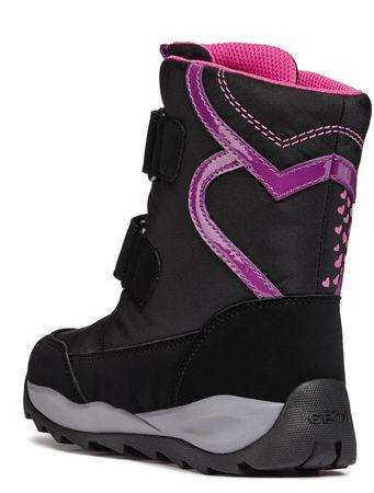 Geox dievčenské zimné topánky Orizont 30 čierna  844f3e691e3
