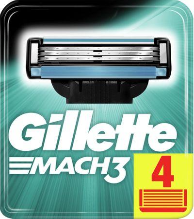 Gillette Mach3 nadomestna rezila, 4 kosi
