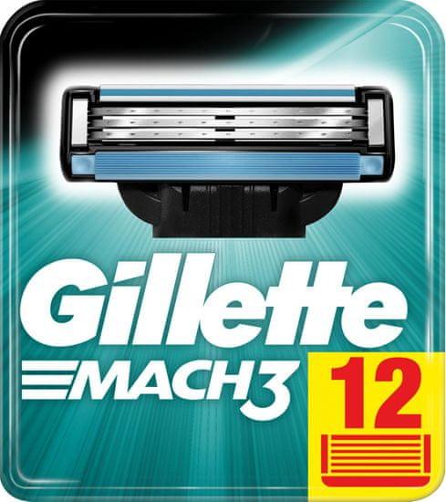 Gillette Mach 3 zamjenske oštrice, 12 komada