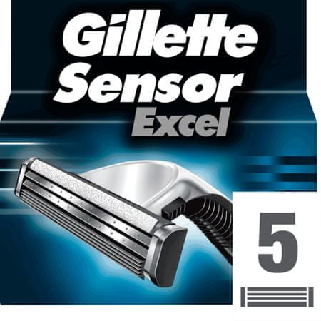 Gillette brivna glava Sensor Excel, 5 kosov