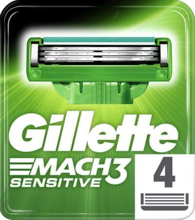 Gillette nadomestne glave MACH3 Sensitive, 4 kos