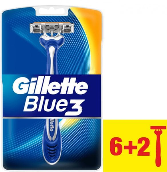 Gillette Blue3 Pánský jednorázový holicí strojek 8 ks