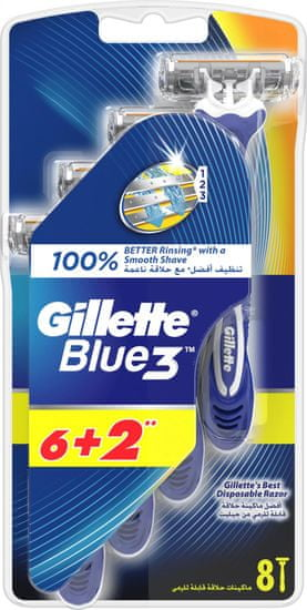 Gillette moška britvica Blue3, 8 kosov