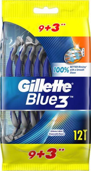 Gillette Blue3 Sensitive pánský jednorázový holicí strojek 12 ks