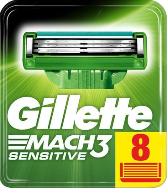 Gillette Mach3 Sensitive holicí hlavice pro muže 8 ks