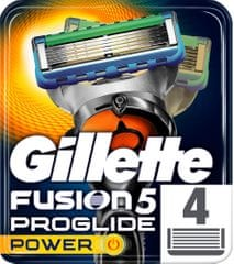 Gillette Fusion ProGlide Power - náhradné hlavice 4 ks
