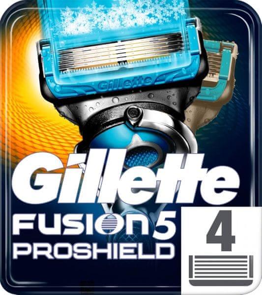 Gillette Fusion5 ProShield Chill Hol hlavice pro muže 4 ks