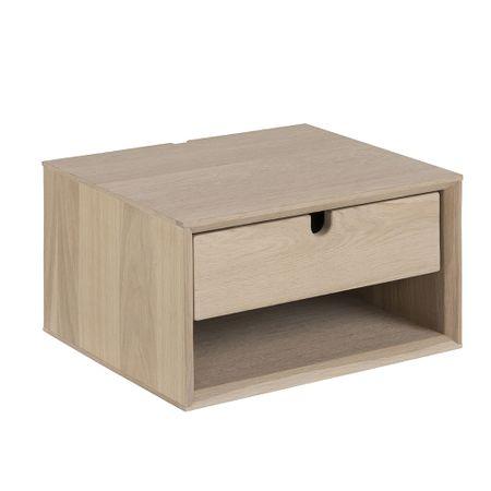 Design Scandinavia Noční stolek nástěnný Delica, 37 cm