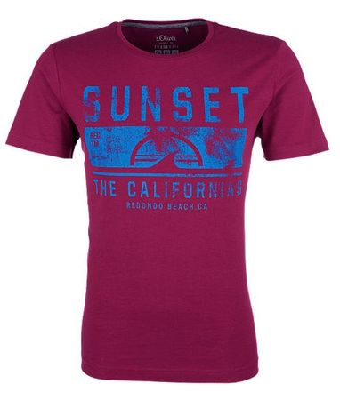 s.Oliver T-shirt męski M burgund