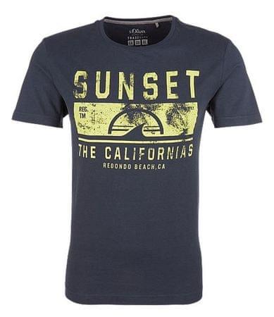 s.Oliver T-shirt męski XXL ciemnoniebieski