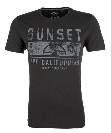 s.Oliver T-shirt męski L czarny