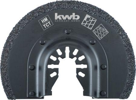 KWB polkrožni nastavek za ploščice in fuge, HM, 85 mm (709542)