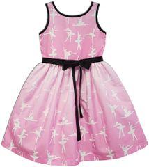 Joe and Ella dekliška obleka Ballerina, roza
