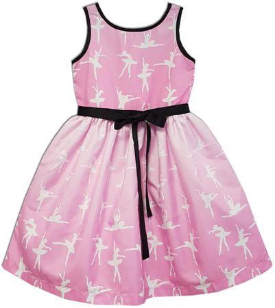 Joe and Ella Dívčí šaty Ballerina - růžové 116