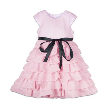 Joe and Ella Dívčí volánkové šaty Audrey - růžové 104